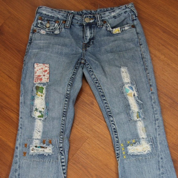 "525a1babc ""Patch Me"" True Religion Woodstock Jeans. M 5ab94adf9a9455fb8ea866ac"